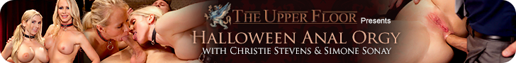 The Upper Floor Presents Halloween Anal Orgy with Christie Stevens & Simone Sonay