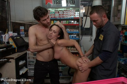 Public disgrace gas station full