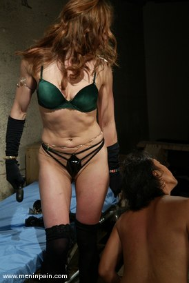 Aiden starr punishes her basement slave 3