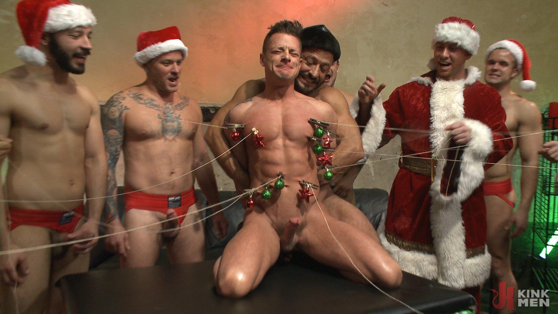Naked gay santa