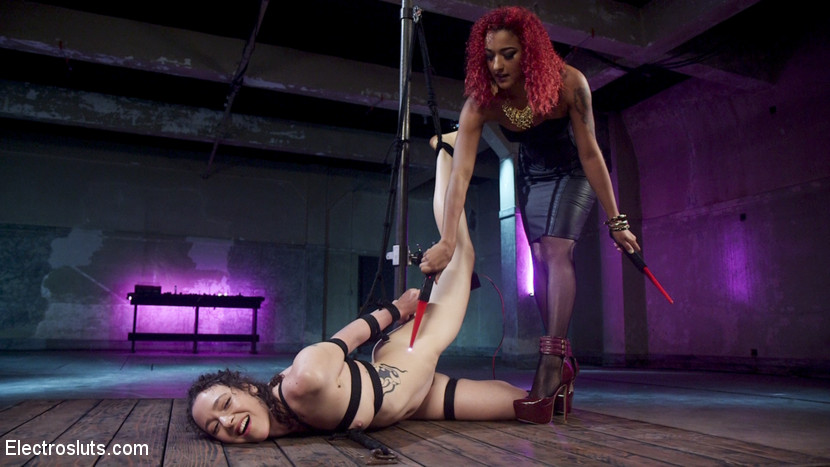Bound, Fucked and Lesbian Electro Fisted!