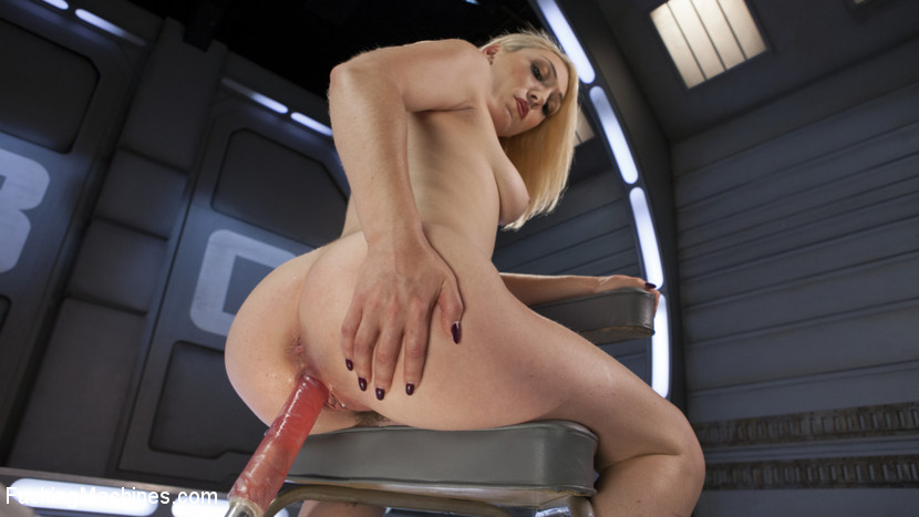 Hot Blond Lily LaBeau is Machine Fucked