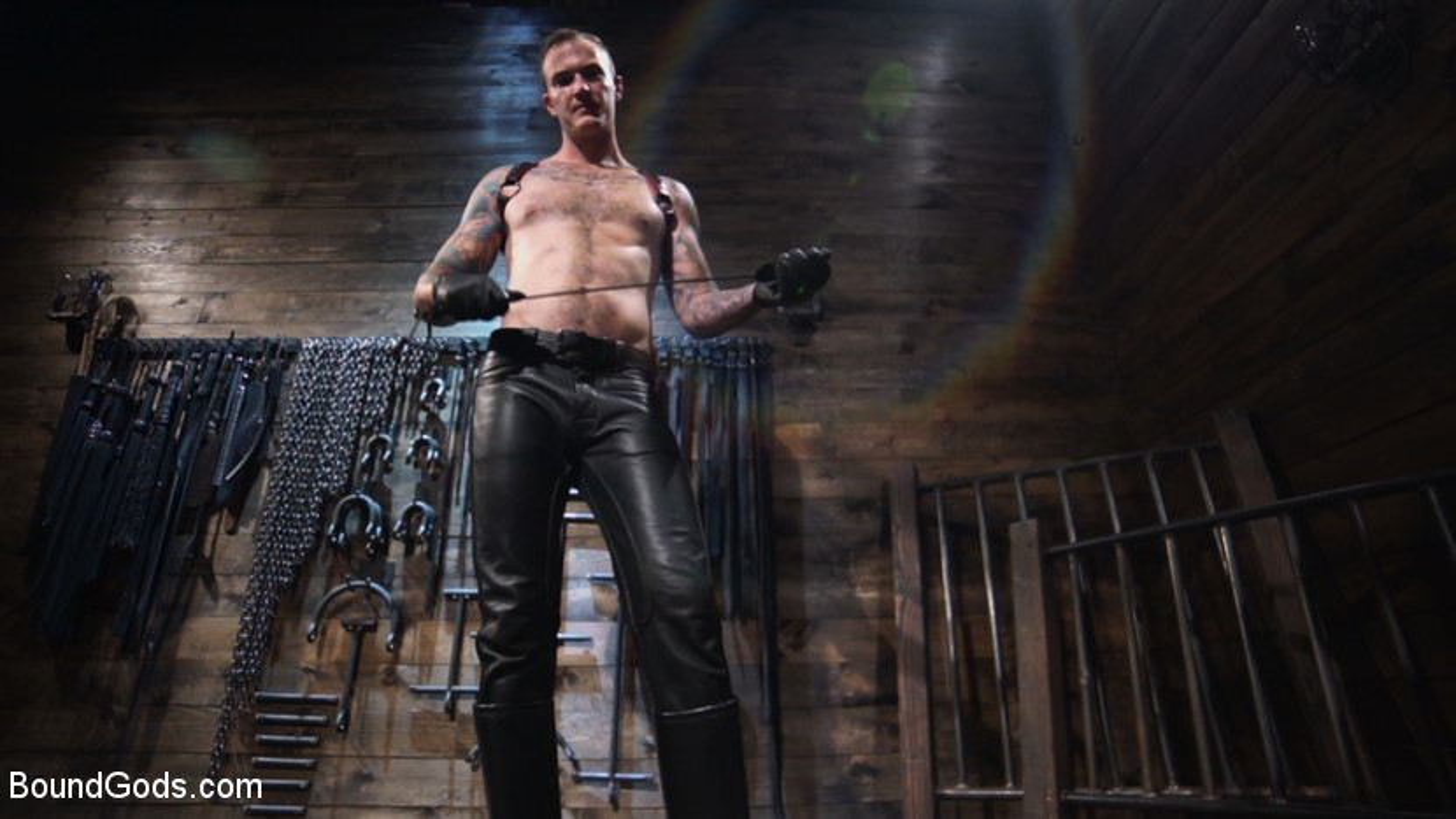 Captive God Pierce Paris: Bound in Rope Bondage and Fucked by Hot Stud