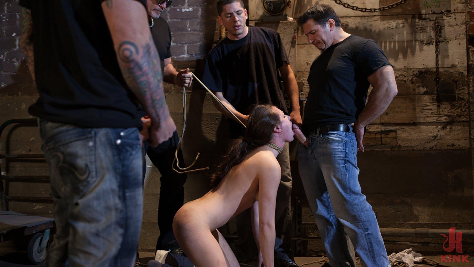Screenshot #1 from Casey Calvert Lives out her Gangbang Fantasy! First Gangbang,First Dp! movie