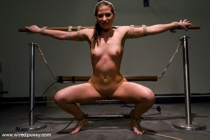 Torture Naked girls dildo bike